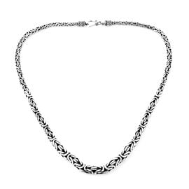 Royal Bali Collection Sterling Silver Borobudur Necklace (Size 20), Silver wt 77.52 Gms