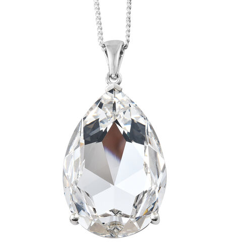 Red Carpet Collection - Crystal from Swarovski - Ice White Crystal (Pear 40x70mm) Pendant with Chain