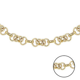 9K Yellow Gold Celtic Necklace (Size 20), Gold Wt. 9.41 Gms