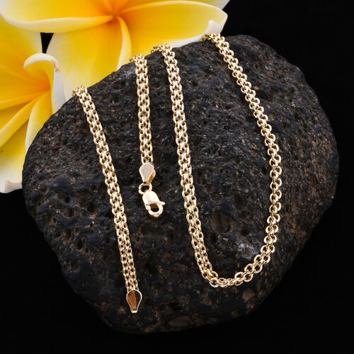 Royal Bali Collection - 9K Yellow Gold Double Rolo Necklace (Size 18) with Lobster Lock, Gold wt 3.00 Gms