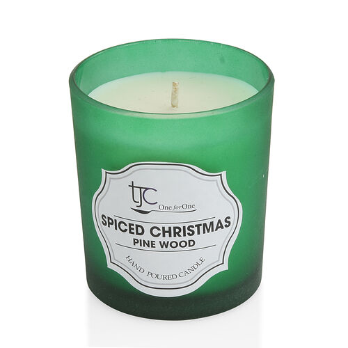 Home Sense Christmas Pine Scented Candle in Frosted Glass with Gift Box