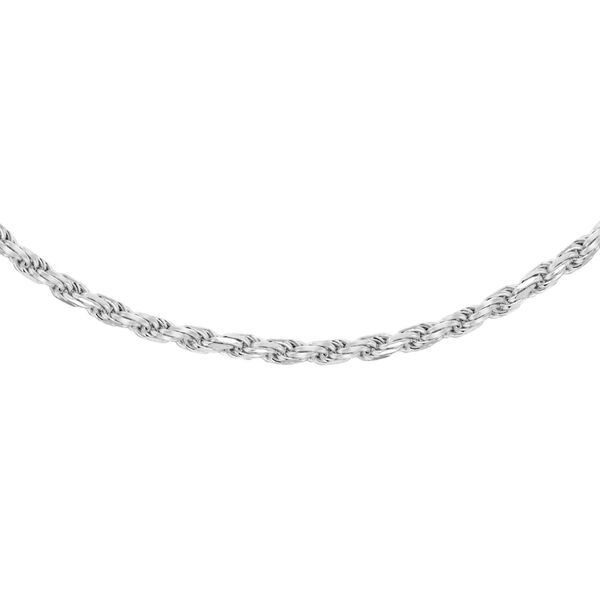 Vicenza Collection Diamond Cut 18 Inch Rope Chain in Sterling Silver
