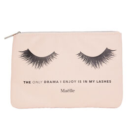 Maelle: No Drama - Cosmetic Bag (24x17cm)  in Peach Colour