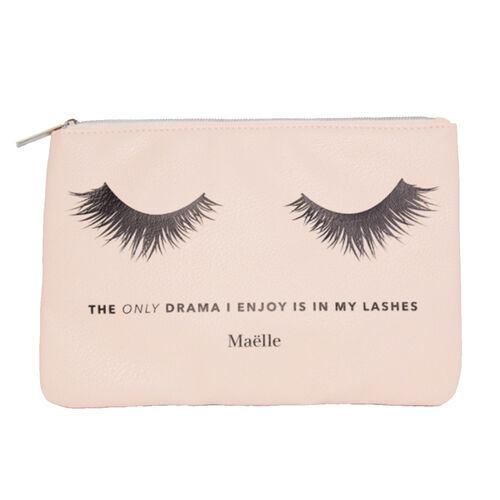 Maelle: No Drama - Cosmetic Bag (24x17cm)  in Peach Colour
