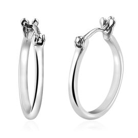 RHAPSODY 950 Platinum Hoop Earrings (with Clasp Lock)