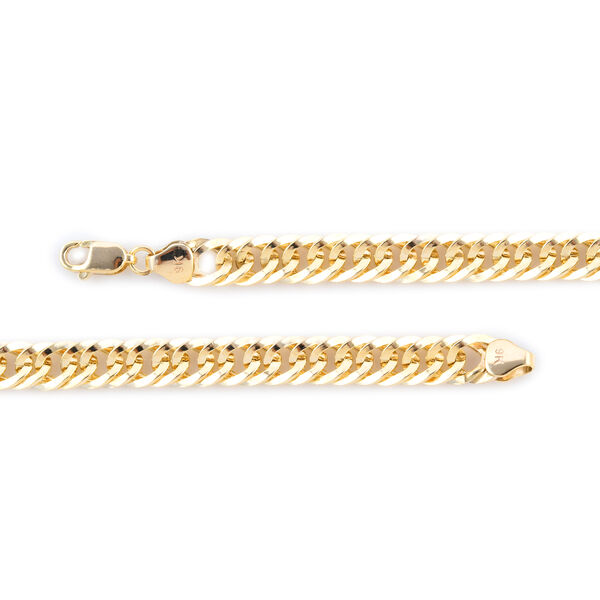 New York Close Out Deal- 9K Yellow Gold Double Curb Necklace (Size 20), Gold Wt. 10.05 Gms