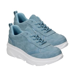 Blue Trainers with Lace Detail