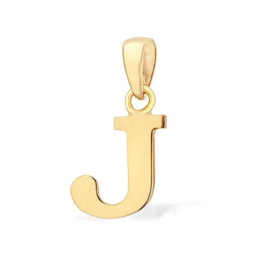 9K Yellow Gold Initial J Pendant