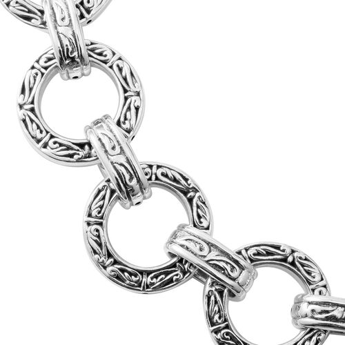 Rhodium Overlay Sterling Silver Necklace (Size 20), Silver wt 72.80 Gms.