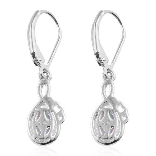 Ethiopian Welo Opal (Ovl) Lever Back Earrings in Sterling Silver 1.000 Ct.