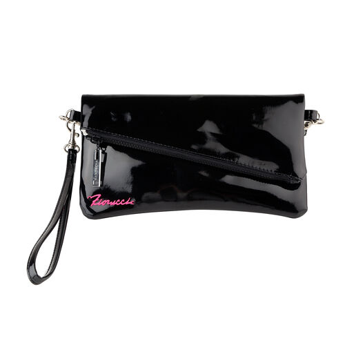 FIORUCCI Wristlet Pouch with Removable Shoulder Strap (Size 22x12 Cm) - Black