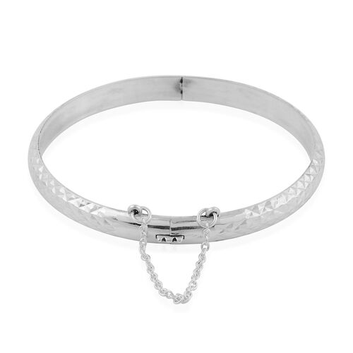 Sterling Silver Bangle (Size 7.5), Silver wt 8.05 Gms