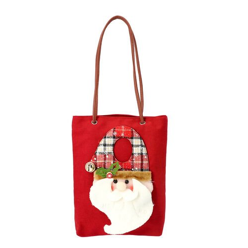 Christmas Collection - 3D Santa Tote Bag - Size 26x32cm - Red