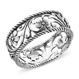 Royal Bali Collection - Sterling Silver Frangipani Floral Ring