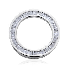 9K W Gold SGL Certified Diamond (Bgt) (G-H/I3) Circle of Life Pendant 0.500 Ct.