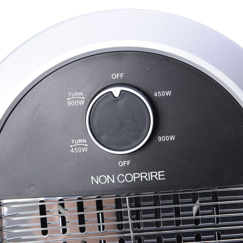 Home Decor - Black and White Colour Electronic Fan Heater with Wide - Angle Radiant Electric Heat Reflectors (Size 69x3x30 Cm)