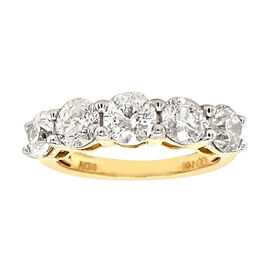 NY Close Out Deal 14K Yellow Gold White Natural Diamond (I1-I2/G-H) Ring 2.00 Ct.