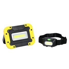 3 Piece Set - Kingavon 5W COB LED Portable Work Light with 2 COB LED Headlights