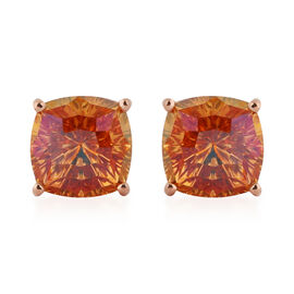 J Francis Crytal from Swarovski Astral Pink Crystal Stud Earrings (with Push Back) in Rose Gold Over