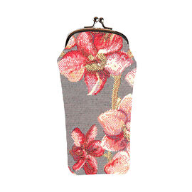SIGNARE - Tapastry Orchid Glasses Pouch ( 11x20xx1cm)