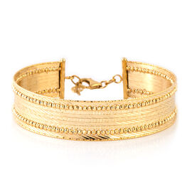 Italian Made Cuff Bangle in 9K Yellow Gold 12.59 Grams Size 7 and 1 Inch Extender
