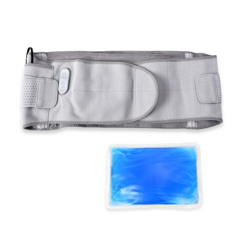 3 in 1 USB Powered Heated Waist Belt with Ice Gel Bag.(Power Bank or Adapter not Included) - Silver