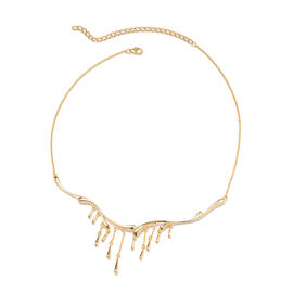 LucyQ Drip Necklace in Yellow Gold Plated Sterling Silver 20 Inch with Extender