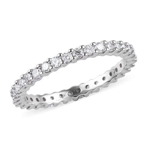 RHAPSODY 950 Platinum IGI Certified Diamond (VS/E-F) Full Eternity Band Ring 1.00 Ct, Platinum wt. 3.12 Gms