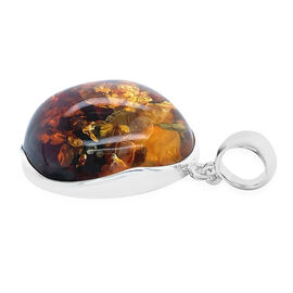 Natural Baltic Amber Pendant in Sterling Silver, Silver wt 10.02 Gms
