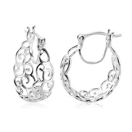 Sterling Silver Hoop Earrings, Silver wt 3.50 Gms