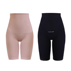 BRAND NEW - 2 Piece Set - SANKOM SWITZERLAND Patent Classic Posture Correction Shapers Shorts with Lace Black and Beige