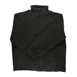 Solid Black Ladies Fully Lined Fleece Jackets