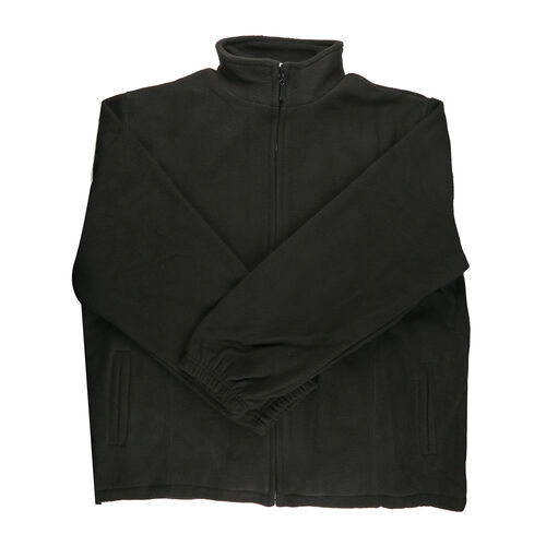 Pure and Natural Black Ladies Fully Lined Fleece Jackets (Size M / 14-16)
