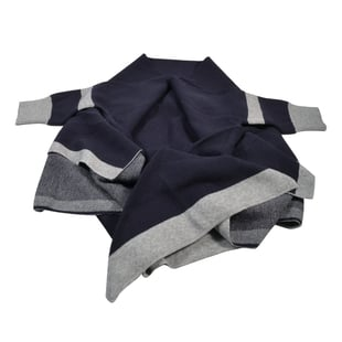 Kris Ana Coloured Border Cardigan One Size - Navy/Grey