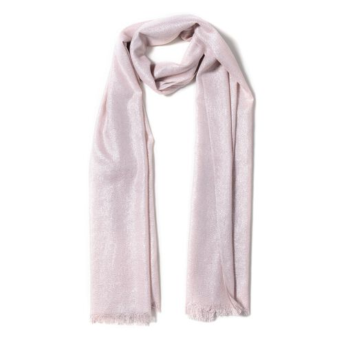 Pink Colour Scarf with Shiny Surface (Size 200x100 Cm)