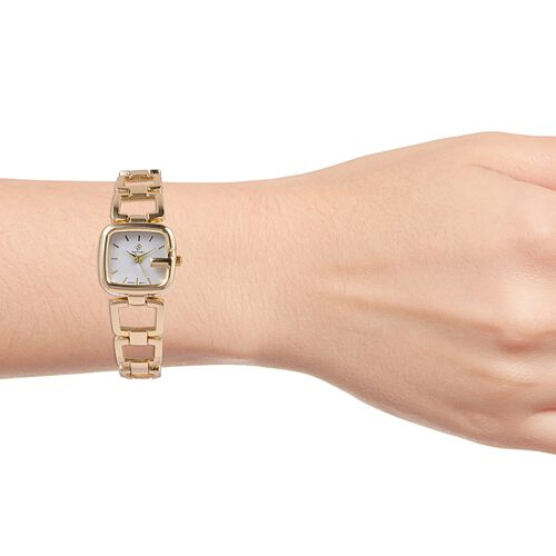 STRADA Japanese Movement Water Resistant Bracelet Watch in Gold Plated
