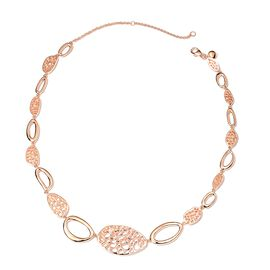 RACHEL GALLEY Candy Collection Rose Gold Overlay Sterling Silver Necklace (Size 16/18/20), Silver wt