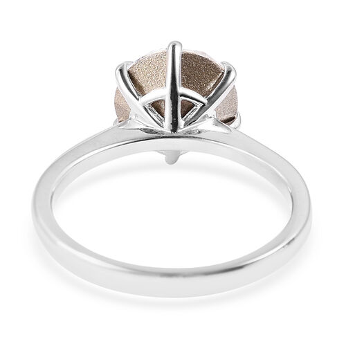 J Francis - Crystal from Swarovski White Crystal (Rnd) Ring in Rhodium Overlay Sterling Silver