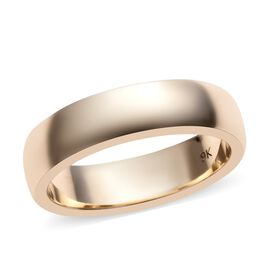 9K Yellow Gold Band Ring