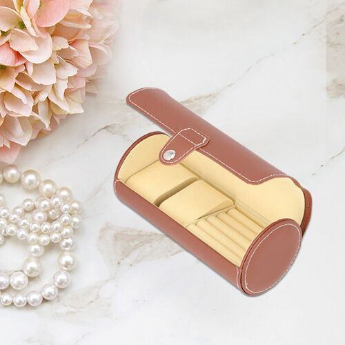 Unique Roll Style Watch and Jewellery Storage Box (Size 9x19.5cm) - Burgundy
