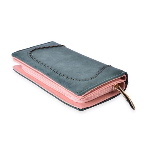 Dark Green Colour Long Size Wallet (19x9x3 Cm)