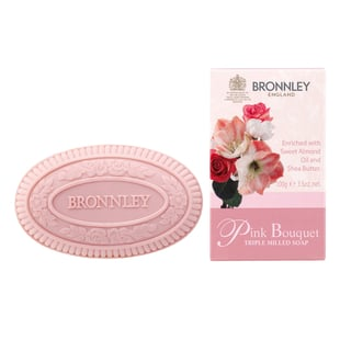 Bronnley: Pink Bouquet Triple Milled Fine English Soap - 100g