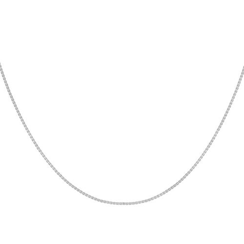 Sterling Silver Box Chain (Size 24), Silver wt 3.20 Gms