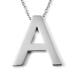 Initial A Necklace (Size - 20) in Stainless Steel