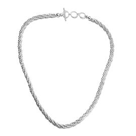 Popcorn Chain Necklace in Silver 39.50 Grams 20 Inch with Extender