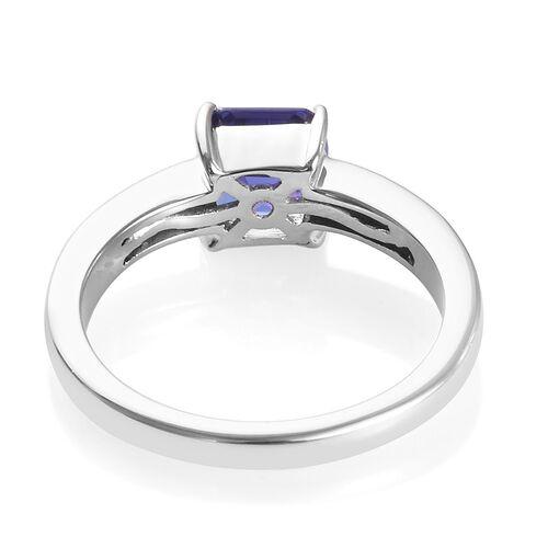 RHAPSODY 950 Platinum AAAA Tanzanite and Diamond (VS/E-F) Ring 2.12 Ct, Platinum wt. 6.20 Gms