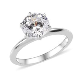 J Francis 3.25 Ct Made with SWAROVSKI ZIRCONIA Solitaire Ring in Silver