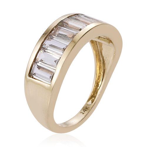 14K Yellow Gold Extremely Rare Shape  Turkizite (Bgt) Band Ring 1.750 Ct.