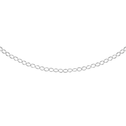 Rolo Chain Necklace in Sterling Silver 18 Inch