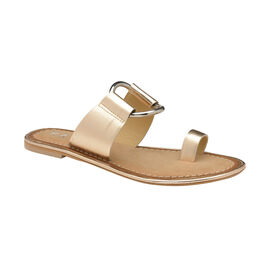 Ravel Franklin Leather Flat Sandals in Golden Colour